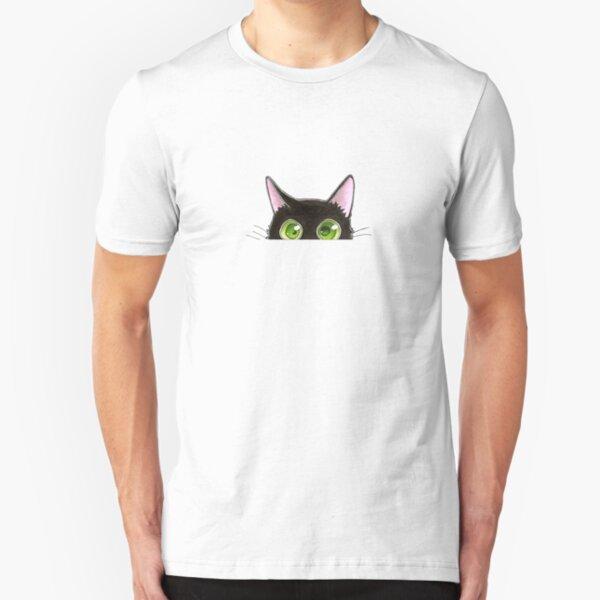 chat noir T-shirt ajusté