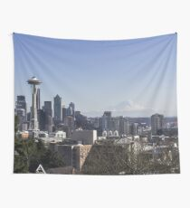 Seattle During The Day Wall Tapestry