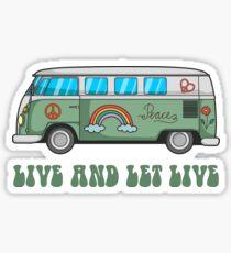 Hippie Bus T-Shirt Sticker