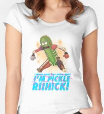 PICKLE RICK Women's Fitted Scoop T-Shirt
