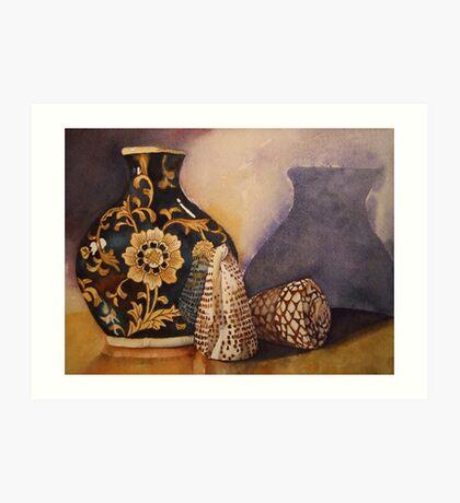 The Black Vintage Vase 'Still Life' © Patricia Vannucci 2008 Art Print