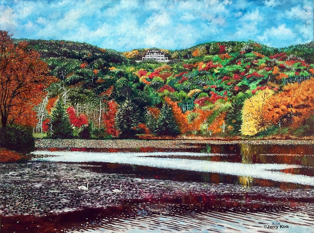 'OVERLOOKING BASS LAKE (CONE MANOR)' by Jerry Kirk
