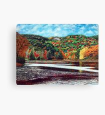 'OVERLOOKING BASS LAKE (CONE MANOR)' Canvas Print