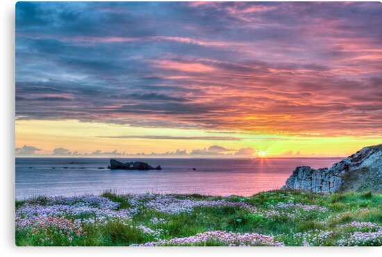 Sunset Seascape in France by Joshua McDonough Photography