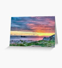 Sunset Seascape in France Greeting Card