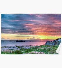 Sunset Seascape in France Poster