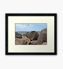 Heart-Shaped Rock Framed Print