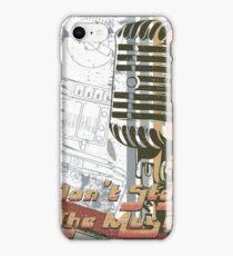 Retro Mic Vintage T-Shirt iPhone Case/Skin