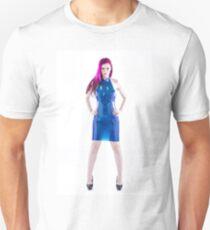 Latex blue dress Unisex T-Shirt