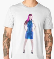 Latex blue dress Men's Premium T-Shirt