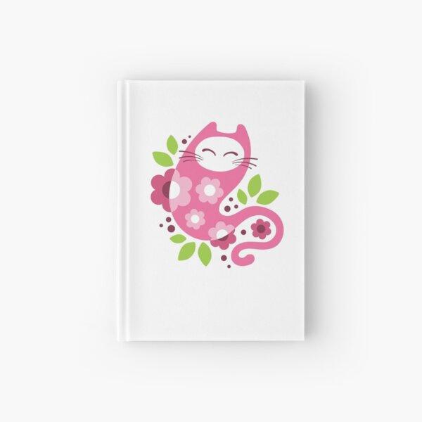Cherry blossom cat Hardcover Journal