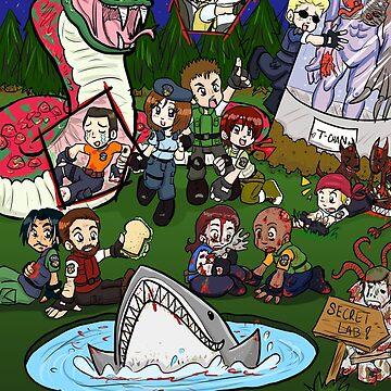 Resident Evil Chibi Mess by mochipanda