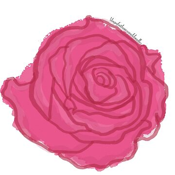 A [Pink] Rose By Any Other Name - Watercolour by EloisaRelish