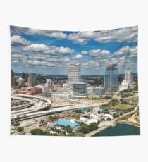 Milwaukee During The Day Wall Tapestry