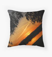 Sunset over Lake Albert Throw Pillow
