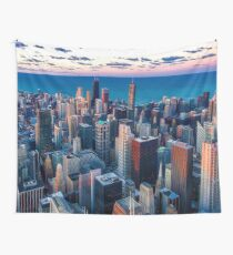 Chicago By Lake Michigan (Sundown) Wall Tapestry