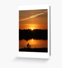 Sunset over Lake Albert Greeting Card
