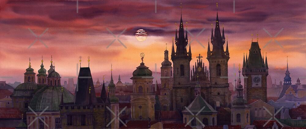 Prague City of hundres spiers by Yuriy Shevchuk