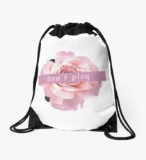 don't play//halsey Drawstring Bag