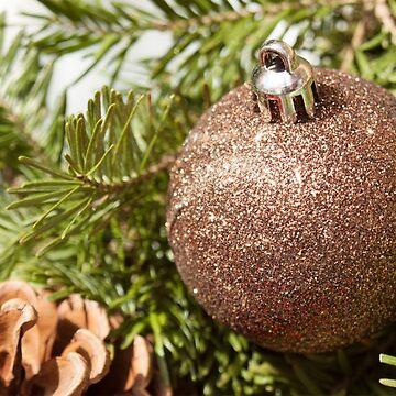 Christmas Ornament On Wreath by JuliaAjandi