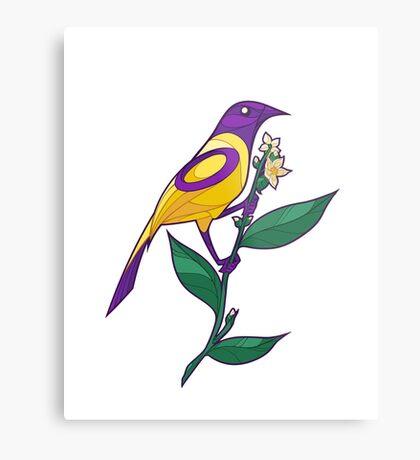 Pride Birds - Intersex Metal Print