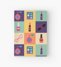 Cosmetics Set. Icons Set. Cosmetology. Fashion and Beauty. Perfume, Polish, Pomade. Female Beauty. Vector illustration. Flat Style Hardcover Journal