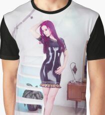 Latex dress in the livingroom  Graphic T-Shirt