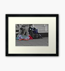 It's not all black and white! Framed Print