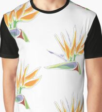 Bird of Paradise- Original Tropical Flower Illustration by Cricky Graphic T-Shirt