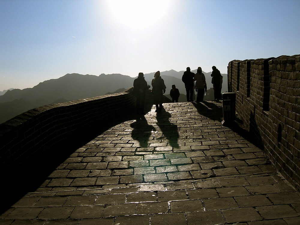 The Great Wall - Beijing, China by Robert Baker
