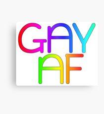 Gay AF - Show your pride with pride! Metal Print