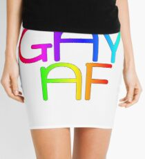 Gay AF - Show your pride with pride! Mini Skirt