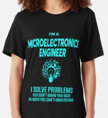 MICROELECTRONICS ENGINEER BEST DESIGN 2017 Slim Fit T-Shirt
