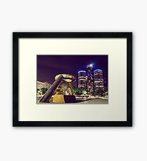 Detroit At Night Framed Print
