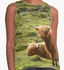 Scottish Highland Cows Contrast Tank