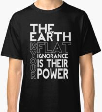 Flat Earth - Flache Erde Classic T-Shirt
