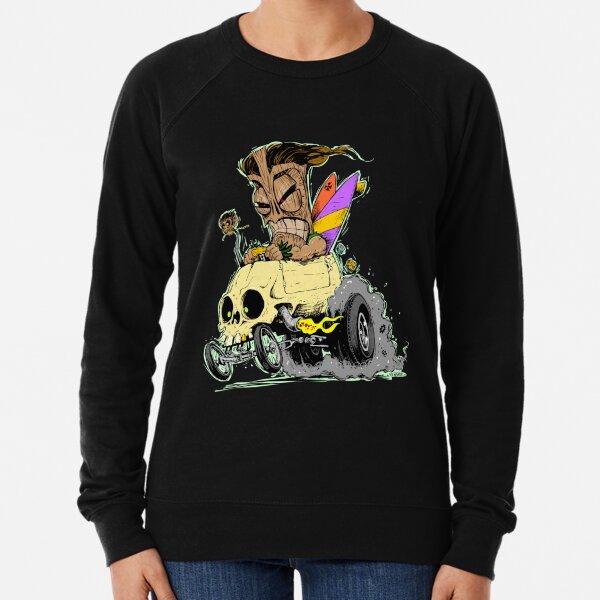SKULL DRIVING TIKI  Lightweight Sweatshirt
