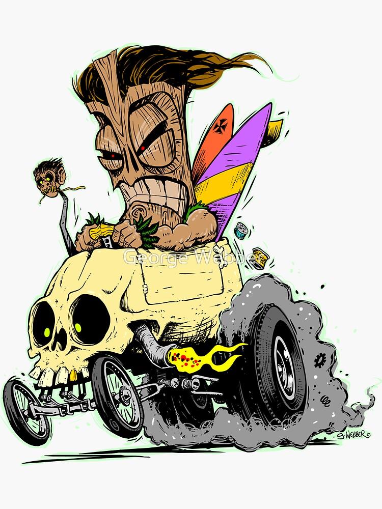 SKULL DRIVING TIKI  by gWebberArts