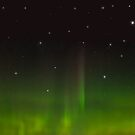 Northern Lights in a Starry Sky by Greenbaby