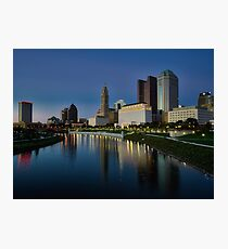 Columbus Ohio At Night Photographic Print