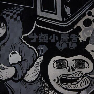 Graffiti Art - Black & White by KyleJDM4