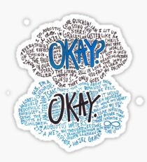 Okay Collage Sticker