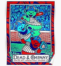 TOP POSTER DEAD AND COMPENI WRIGLEY FIELD CHICAGO 2017 Poster