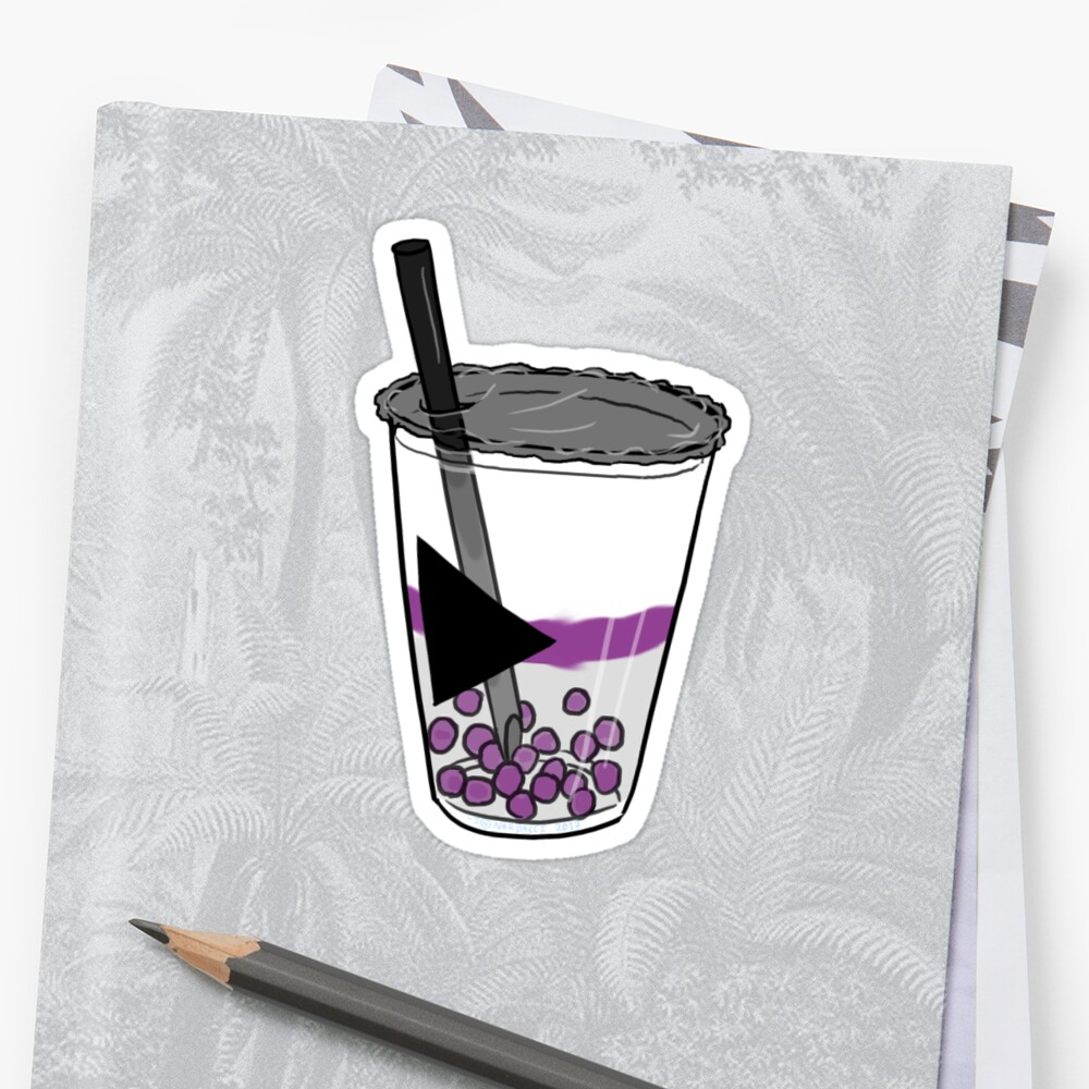 Demisexual Pride Boba Tea Sticker by JNNardacci
