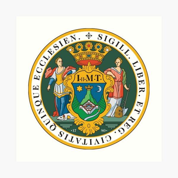Coat of Arms of Pécs, Hungary Art Print