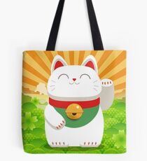 Lucky Cat Sunrise Tote Bag