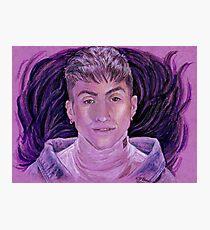 Mitch Grassi on Purple Photographic Print