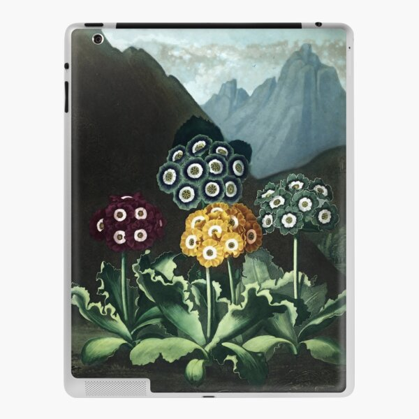 Auriculas - The Temple of Flora Botanical Print iPad Skin