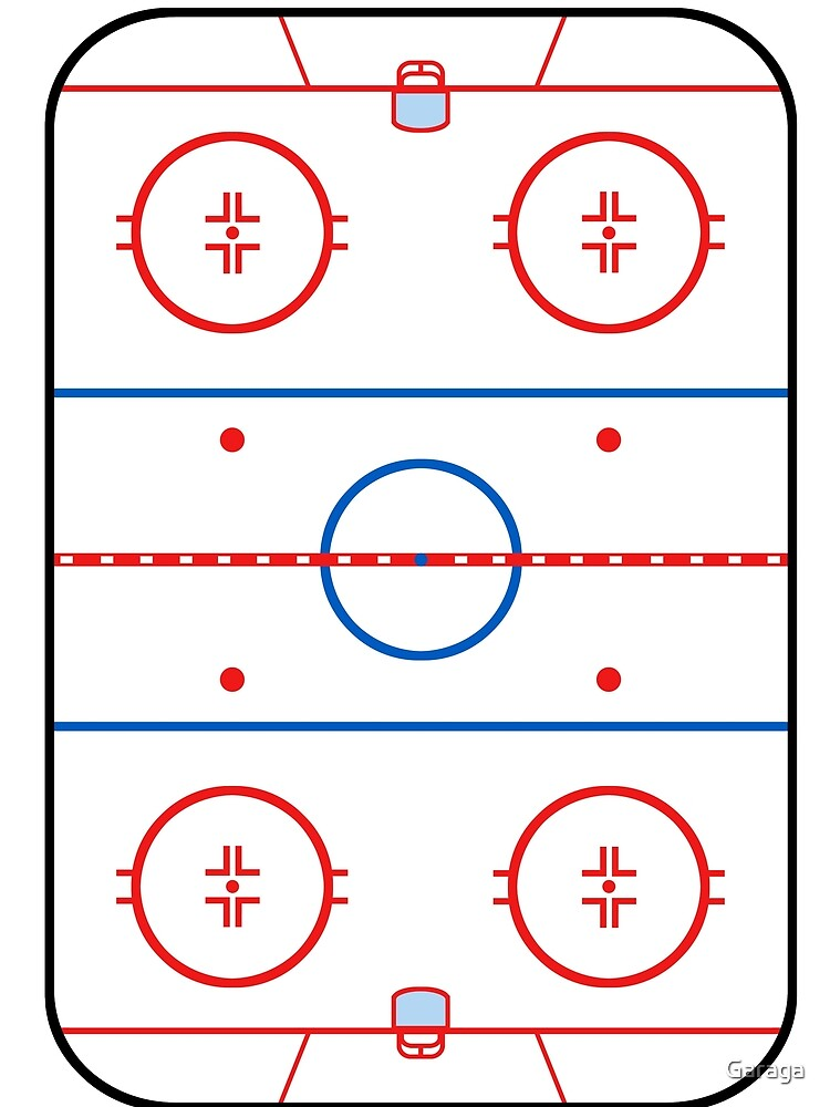 Ice Rink Diagram Hockey Game Companion Graphic T Shirt By Garaga