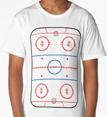 Ice Rink Diagram Hockey Game Companion Long T-Shirt